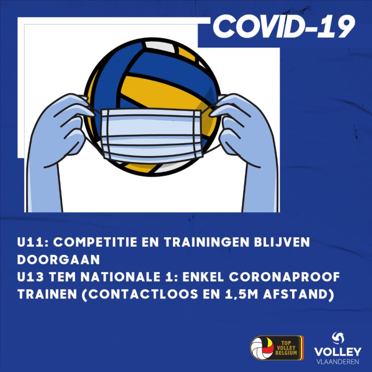 UPDATE 13/10: corona – maatregelen volleybal t.g.v. code oranje