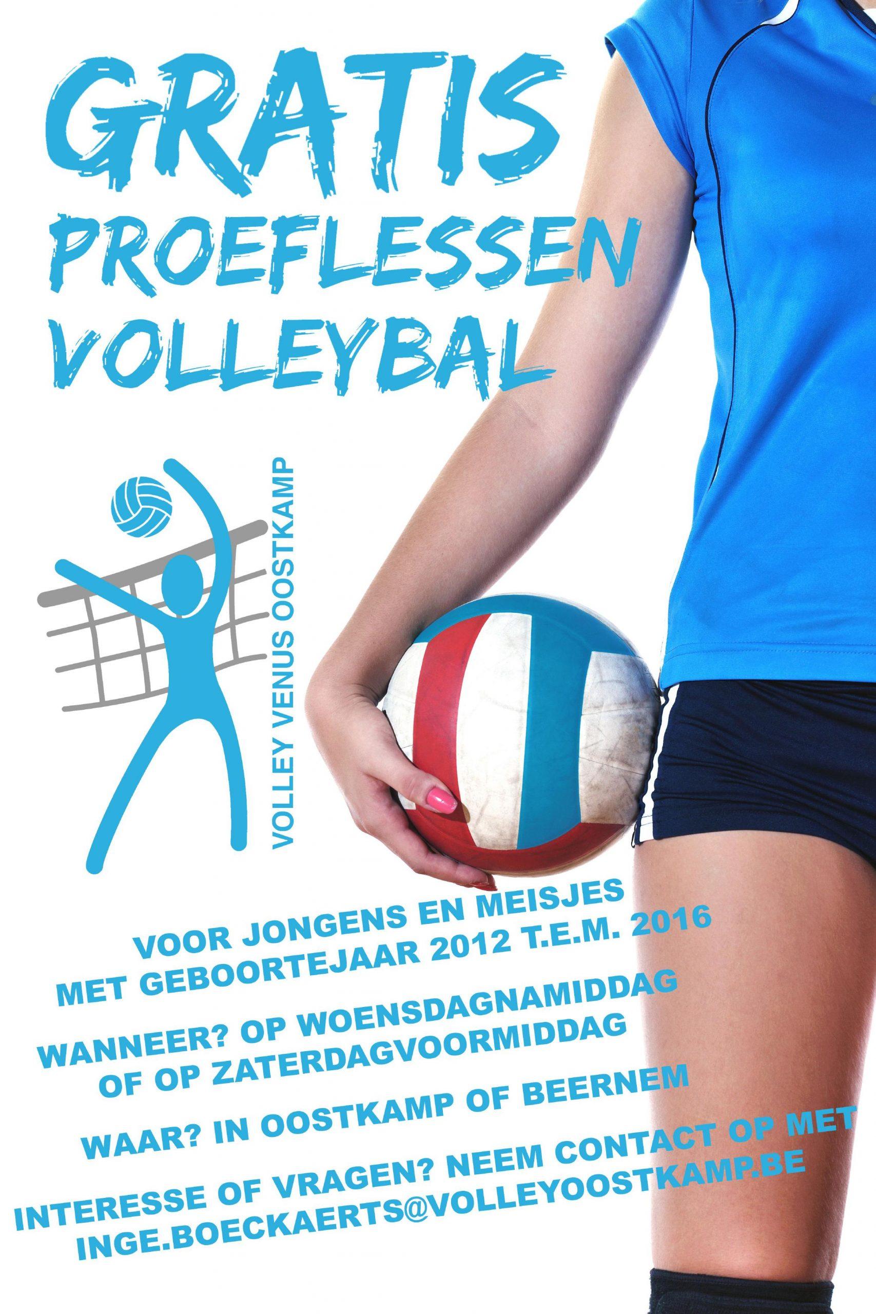 Gratis proeflessen volleybal!
